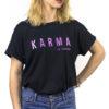 Dámske tričko Karma je zdarma čierne